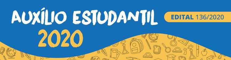 Prorrogado prazo de inscrição para o Programa Auxílio Estudantil 2020.