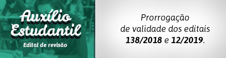 IFSULDEMINAS prorroga validade de editais de Assistência Estudantil