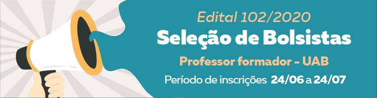 Abertas as inscrições para seleção de professor formador bolsista na modalidade EaD.